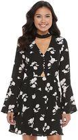 Candies Juniors' Candie's® Floral Choker Skater Dress