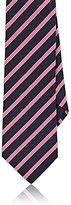Barneys New York Men's Diagonal-Striped Twill Necktie