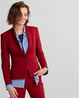 Express notch collar one button jacket