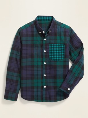 Old Navy Patterned Built-In Flex Classic Shirt for Boys
