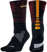Nike LeBron Hyper Elite Crew Basketball Socks Black/Red/Gold Men's (6-8)
