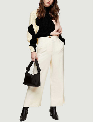 Topshop Aida wide-leg high-rise woven trousers