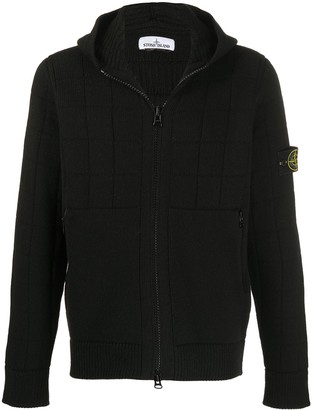 Stone Island Knitted Zip-Up Hoodie