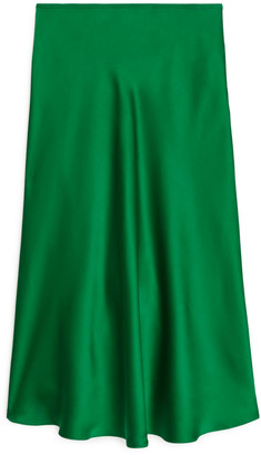 Arket Bias-Cut Satin Skirt