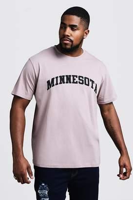 Big & Tall Minnesota Print T-Shirt