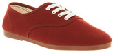 Flossy Lace Up Plimsoll