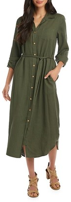 Karen Kane Long-Sleeve Midi Shirtdress
