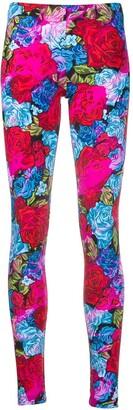 Versace Rose Print Leggings