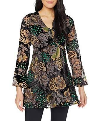 Joe Browns Women's Delightful Deovre Tunic Long Sleeve Top, (Black Multi (Size:)