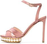Nicholas Kirkwood Casati Pearl Platform Sandal in Dusty Pink