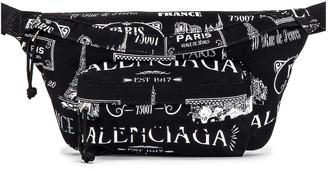 Balenciaga Wheel Belt Pack in Black & White | FWRD
