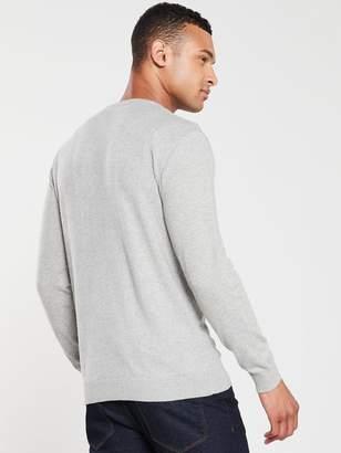 Very V-Neck Jumper - Grey Marl