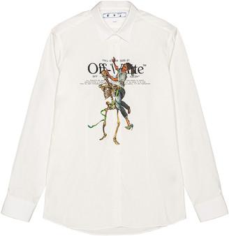 Off-White Pascal Skeleton Basic Shirt in White Light | FWRD
