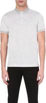 BOSS Contrast-trim cotton-jersey polo shirt