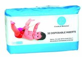 Charlie Banana Disposable Inserts In Bag, Natural, 32 Count by
