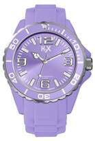 Haurex H2X Women's SL382DL1 Reef Luminous Water Resistant Lavender Soft Rubber Watch