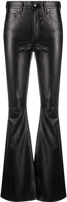 Veronica Beard Faux Leather Flared Trousers