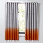 "Half Dipped Orange 96"" Curtain"