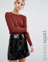 Miss Selfridge Petite Rib Cropped Sweater