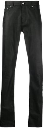 Alexander McQueen Slim-Fit Coated Jeans