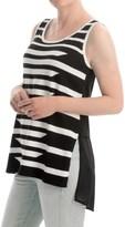 August Silk Striped Sweater - Sleeveless (For Women)