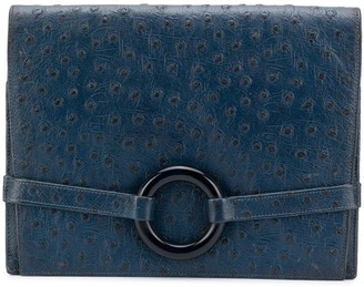 Christian Dior Pre-Owned Ring Detail Clutch Bag