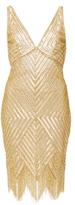 Naeem Khan Diamond Fringed Cocktail Dress