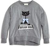 Kate Spade Girls' Cool Cat Sweatshirt - Sizes 7-14
