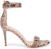 Gianvito Rossi Portofino Python Sandals - Snake print