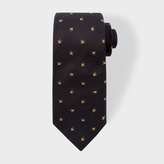 Paul Smith Men's Black 'Rainbow Star' Motif Narrow Silk Tie