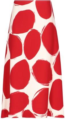 Marni Graphic Print Midi Skirt