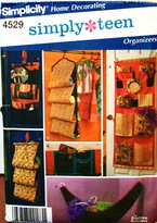 Simplicity Home Decorating Pattern 4529 Simply teen Organizers by Andrea Schewe