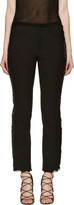 Isabel Marant Black Leather Fringe Isiah Trousers