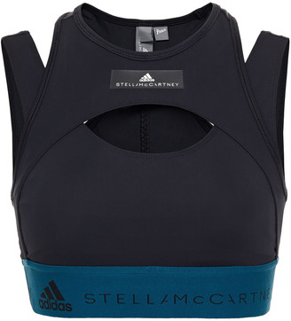 adidas by Stella McCartney Hybrid Layered Stretch Sports Bra