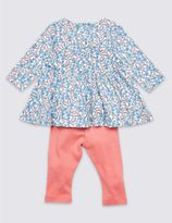 Marks and Spencer 2 Piece Pure Cotton Top & Leggings Outfit