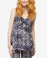 A Pea in the Pod Maternity Printed Ruffled Top