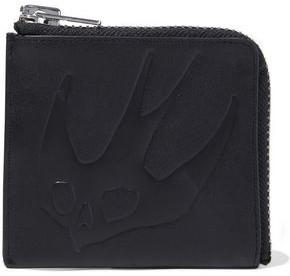 McQ Swallow Embossed Leather Coin Purse