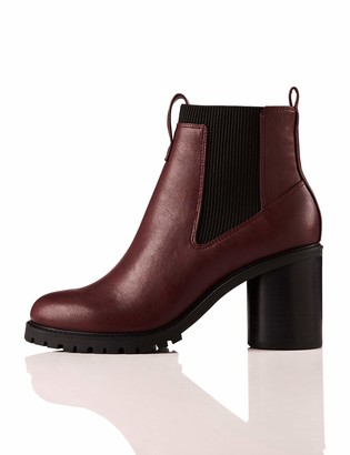 Amazon Brand - find. Chunky Sole Chelsea Boots Rot Burgundy US 10