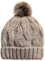 H&M Cable-knit Hat - Taupe - Ladies