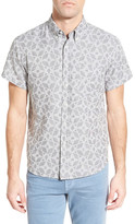 Billy Reid &Tuscumbia& Standard Fit Short Sleeve Sport Shirt