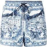 Dolce & Gabbana printed swim shorts - men - Polyester - 4
