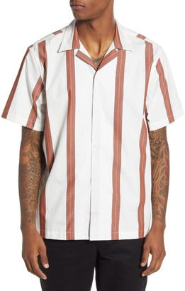 Saturdays NYC Canty Stripe Short Sleeve Button-Up Camp Shirt