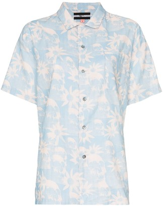 Double Rainbouu floral-print Hawaiian shirt