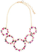 Kensie Studded Ring Frontal Statement Necklace