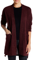 Bobeau Long Textured Cardigan (Petite)