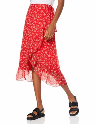 Vero Moda Women's Vmwonda H/w Wrap Skirt Exp