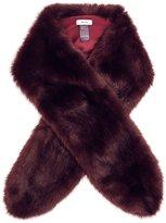 Reiss Laska - Faux-fur Scarf in Red, Womens