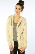 Funktional The Slash Collar Marled Cardigan Sweater