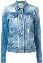 Versace distressed denim jacket - women - Cotton/Polyester/Spandex/Elastane - 44