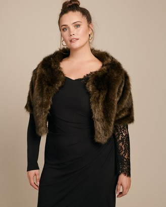 House Of Fluff Chocolate Cropped Coat